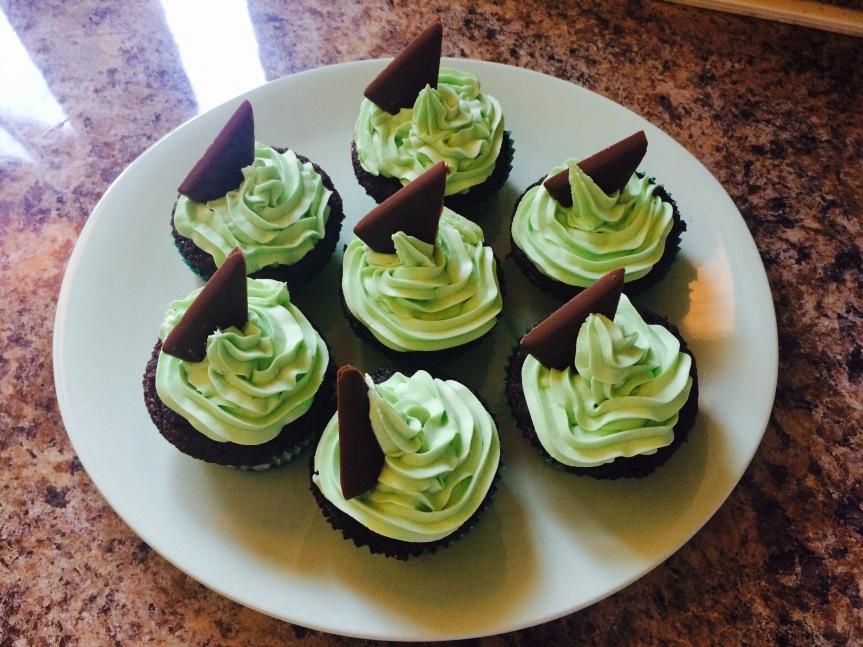 Choc Mint Cupcakes 2